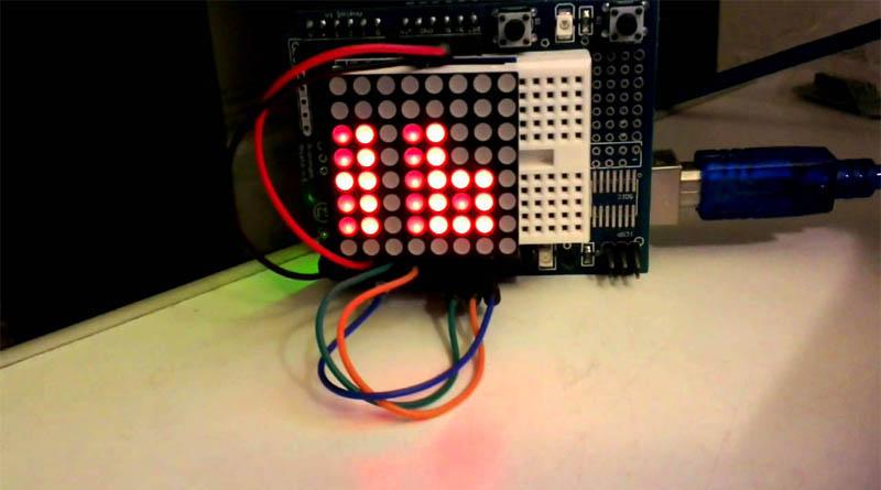 Светодиодная матрица 8х8 MAX7219 для Arduino